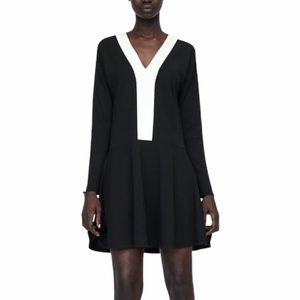 ZARA Perfect Basic ColorBlock Fall Winter Dress